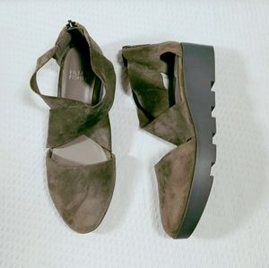 Eileen Fisher Carver Thumbled Nubuck Sandals